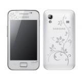 Korpusas Samsung S5830 LaFleur white originalas