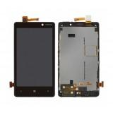 LCD+Touch screen Nokia 820 Lumia black originalas
