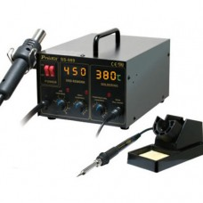 Litavimo stotelė karšto oro su lituokliu  220V 700W 480°C SS-989B Pro'sKit