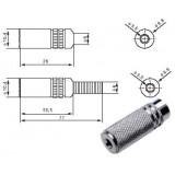 Lizdas kabeliui 3,5mm stereo metalinis