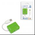USB šakotuvas 4 port Logilink green