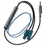 Automobilinės antenos perėjimas 2xFakra-DIN (K-K) /skirtuvas/