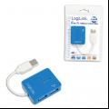 USB šakotuvas 4 port Logilink mėlynas