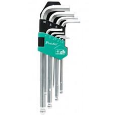 Šešiabriaunių raktų komplektas 9vnt Pro'sKit HW-229B