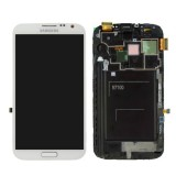 LCD+Touch screen Samsung N7100 Note2 white originalas