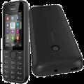 Korpusas Nokia 208 black HQ