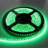 LED juosta SMD3528 12V 9.6W/m (0.235W/mod) hermetiška IP54 žalia 2.5cm