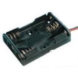 Laikiklis baterijoms 3xR03(AAA) su laidais