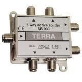 SAT-TV signalo daliklis 1>6, 950-2400 MHz SS003 DC pass