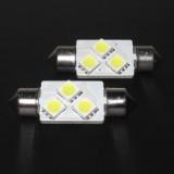 Automobilinė lemputė LED CB SV8.5 12V 42mm 5050 3SMD white