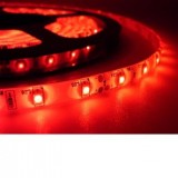 LED juosta 12V 4.8W/m hermetiška IP65 raudona 1m