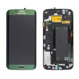 LCD+Touch screen Samsung G925 Galaxy S6 Edge green originalas