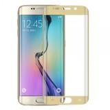 LCD apsauginis stikliukas Samsung G925 Galaxy S6 Edge Tempered Glass gold lenktas