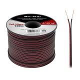 Kabelis garsiakalbiams 2x0.50mm aliuminis red/black