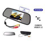 """Automobilinis veidrodėlis su 5"""" LCD ekranu AV 12V Nvox NW5005M"""