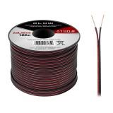 Kabelis garsiakalbiams 2x0.35mm aliuminis red/black