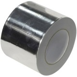 Lipni aliuminio folijos juosta 0.075mmx100mmx50m metalizuota