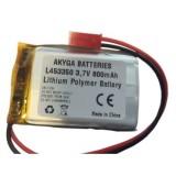 Akumuliatorius 3.7V 800mAh 4.5x33x50mm Li-Polymer