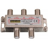 SAT-TV signalo daliklis 1>4, 5-2400MHz DC pass