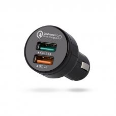 Automobilinis įkroviklis 12-24V 5V 2,4A 2xUSB 2in1 micro USB Madsen