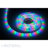 LED juosta 12V 4,8W/m IP65 RGB 1m hermetiška