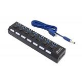 USB šakotuvas HUB AK320B 7 port 1TB