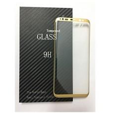 LCD apsauginis stikliukas Samsung G955 Galaxy S8 Plus Tempered Glass gold lenktas