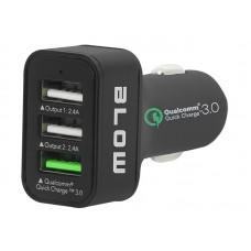 Automobilinis įkroviklis 12-24V 3xUSB 2x2,4A+USB3.0 (Quick charger) Blow C34q