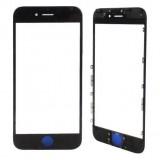 LCD stikliukas Apple iPhone 6 Plus su rėmeliu ir OCA black (O)