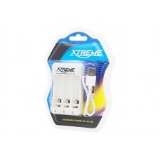 Akumuliatorių įkroviklis micro USB AA/AAA Xtreme