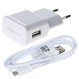 Tinklo įkroviklis Samsung ETA-U90EWE 5V 2A micro USB+ECB-DU4EWE 1,5M box (O)
