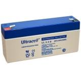 Švino akumuliatorius 6V 3.4Ah (134x67x34)mm Ultracell