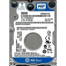 """Kietasis diskas WD 2,5"""" 500GB Sata III 5400RPM HDD 16MB"""