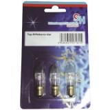 Lemputės kalėdinėms dekoracijoms E10 8V 3W 3vnt