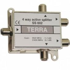 SAT-TV signalo daliklis 1>4, 950-2400 MHz (-1 ... 3 dB) Terra SS002 DC pass