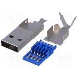 Kištukas USB 3.0-A lituojamas