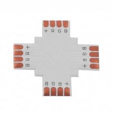 Jungtis LED juostai 4pin 10mm + formos lituojama