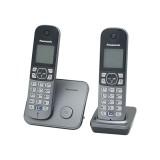 Bevielis telefonas su dviem rageliais Panasonic KX-TG6812