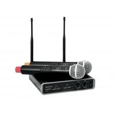 Bevieliai mikrofonai Omnitronic UHF-102 40-18000Hz