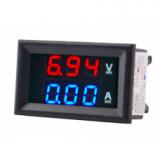 Panelinis skaitmeninis voltmetras/ampermetras DCV 100V DCA 50A 48X29X21mm su šuntu