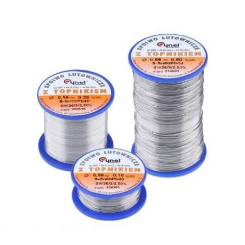 Lydmetalis 1,5mm 100gr 60Sn/40Pb  2.5% fliuso Cynel