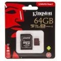 Atminties kortelė 64GB micro SD 10 klasė UHS-I U3 4K R100/W80