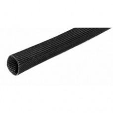 Silikoninis stiklo audinio vamzdelis 2.0mm 1.5KV 200°C 1m juodas