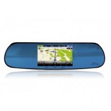Automobilinis vaizdo registratorius  MR11 su veidrodėliu, galinio vaizdo kamera ir GPS navigacija