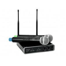 Bevieliai mikrofonai Omnitronic UHF-102 40-185000Hz