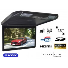 """Monitorius montuojamas į lubas 13"""" HDMI USB NVOX"""