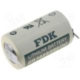Ličio baterija 1/2AA CR14250 3V 900mAh lituojama