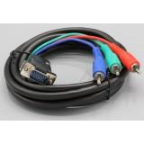Laidas VGA-3RCA RGB (K-K) 2m