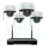 Vaizdo įrašymo įrenginys bevielis NVR Kit 4 kanalai + 4 kameros 4MP Hikvision NK44W1H-1T(WD)