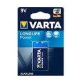 Elementas 9V HR6F22 6LR61 Varta Longlife Power
